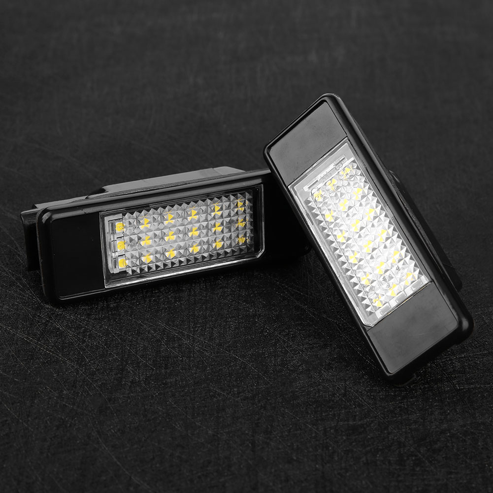 Buy Generic 2pcs 12v Vehicle 18 Led Number License Plate Light Lamp Wiring Fixture No Black White It Features One Pair High Power Error Free Lights Each Is Equipped With Smd Leds Direct Installation