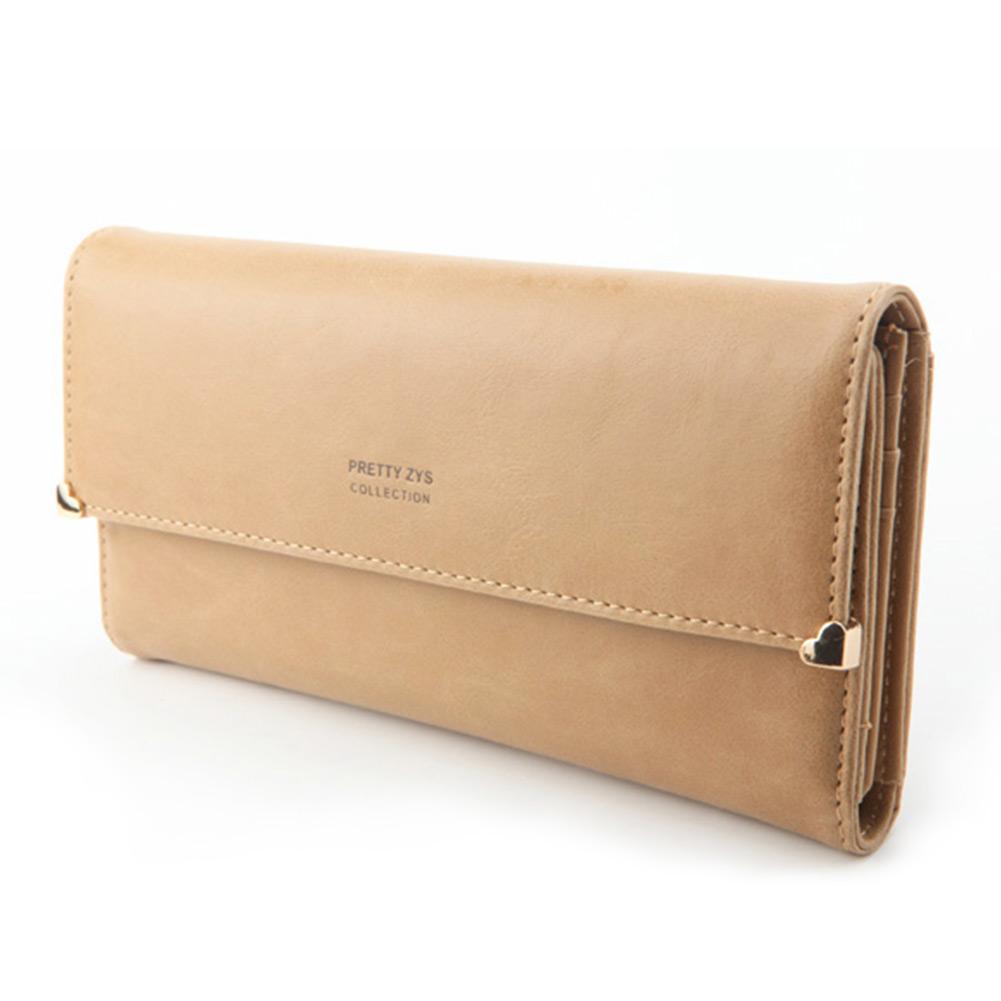 Womens-New-Fashion-Clutch-Matte-Leather-Wallet-Card-Purse-Handbag-Candy
