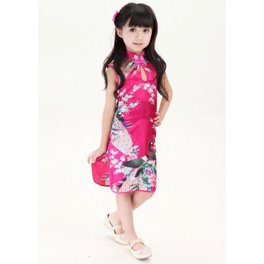brand new stylish chinese kid girl baby cheongsam dress