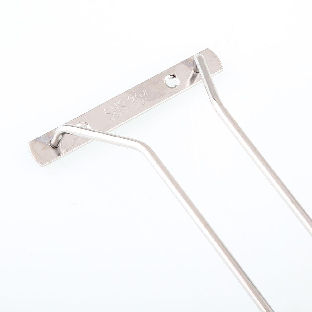 "35cm/13"" Wine Glass Cup Rack Under Cabinet Stemware Holder Hanger Shelf 3"