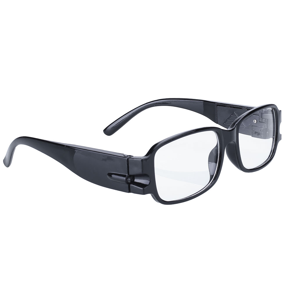 Unisex-Rimmed-Reading-Glasses-Eyeglasses-With-LED-Light-Black-Portable
