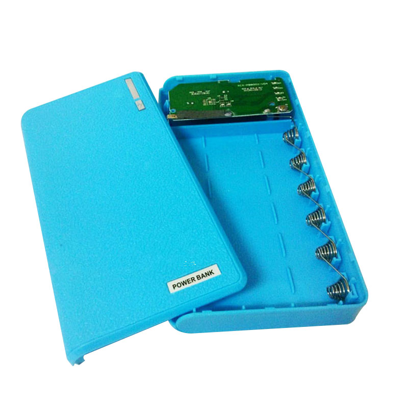 3AD9-2USBLEDPowerBankCase6x18650BatteryCharger-DIY-Box-Case-Kit-for-Phone-New