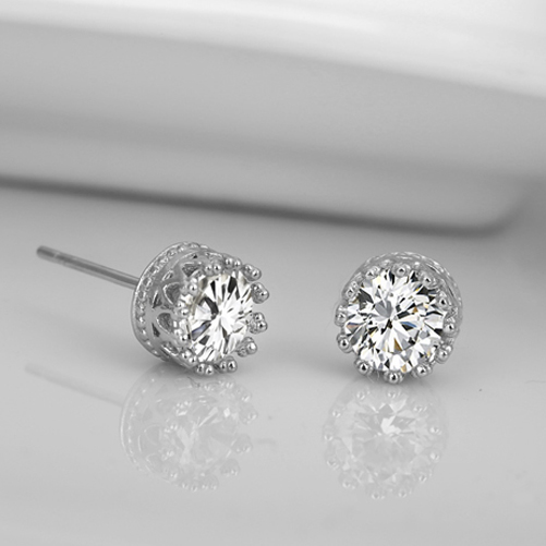 4C27-Charming-Lovely-925-Sterling-Silver-Rhinestone-Crown-