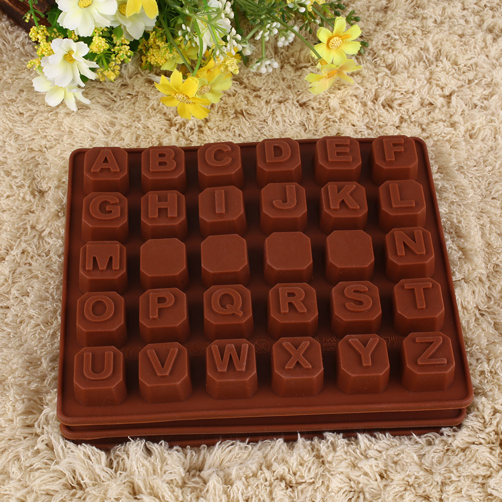 4312 Silicone Letters Alphabet Cake Fondant Mould Chocolate Cookies ...